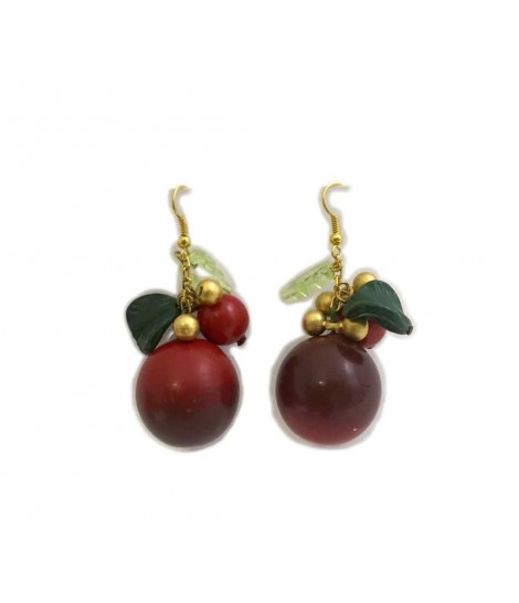 Ornella bijoux earrings with cherry platelet