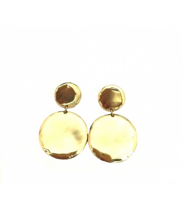MAJO bronze earrings + clip with double pad degraded