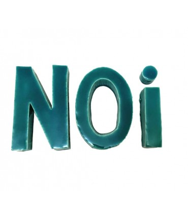 "Ceramic text ""NOI"" mv%ceramics design"