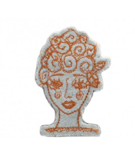 Hand embroidered FRANCESCA NICCHI brooch in cotton