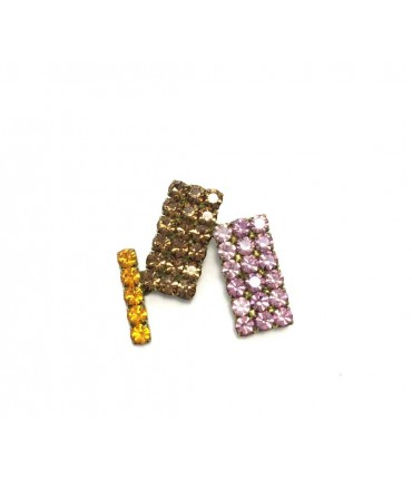 EXQUISITE J Handmade brooch three colors crystals