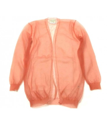 Forte-Forte cardigan in salmon high-tech tulle