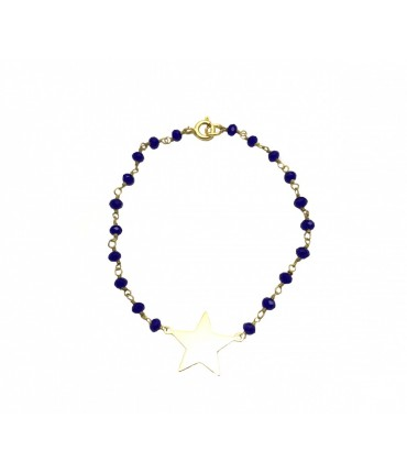 Les jeux des dames bracelet with central star and blue tourmaline